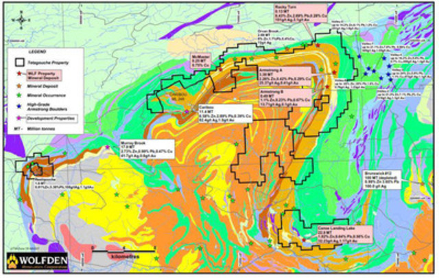 Map 1: Property Map (CNW Group/Wolfden Resources Corporation)