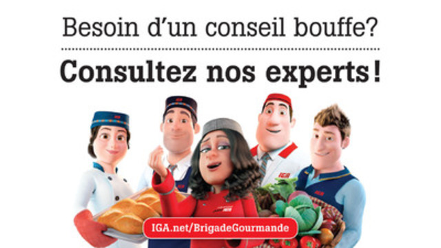 (De gauche à droite) Micheline Painchaud, Bernard Bordeleau, Olivia Romano, Jacques Lebœuf et Nicolas Laverdure  (Groupe CNW/IGA)