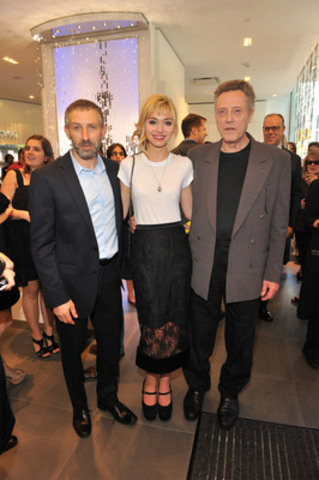 """Mark Ivanir, Imogen Poots and Christopher Walken at the Swarovski Bloor Street Store's pre-cocktail event celebrating the premiere of """"A Late Quartet"""" - George Pimentel Photography (CNW Group/Swarovski)"""
