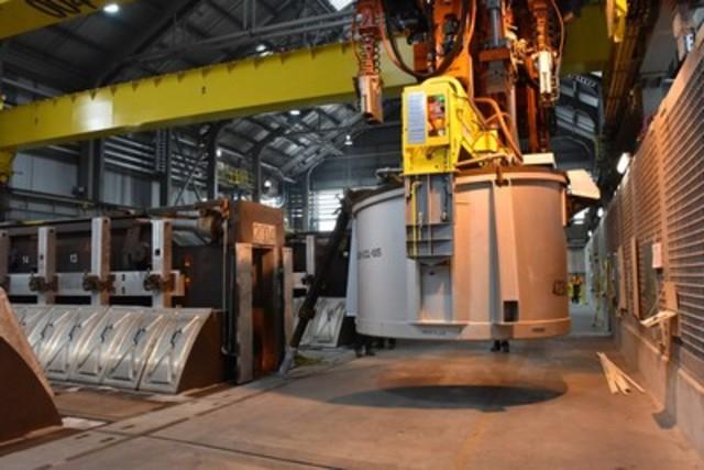Projet de modernisation de l'Usine Kitimat : Rio Tinto débute la production d'aluminium à son usine d'électrolyse de Kitimat en Colombie-Britannique (Groupe CNW/RIO TINTO ALCAN - FR)