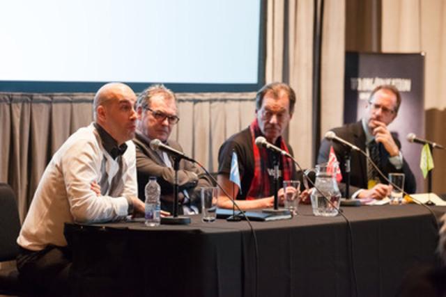 Jonathan Bolduc, François Mario Labbé, Walter Boudreau and Patrice Labelle (CNW Group/GroupeMédia TFO)