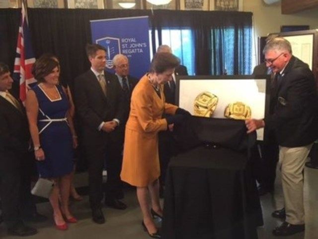 200th Royal St. John's Regatta Championship Rings Unveiled by Princess Anne, Made with Anaconda Newfoundland Gold (CNW Group/Anaconda Mining Inc.)