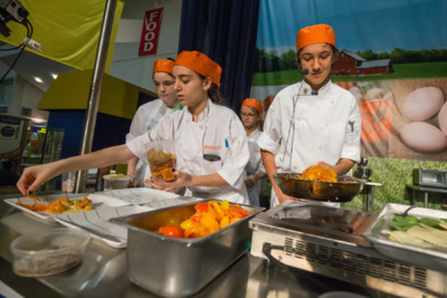 Students competing in The Royal High School Chef Challenge (CNW Group/Royal Agricultural Winter Fair)