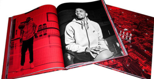 MET Fine Printers and Nike win Best in Show at the 2013 Canadian Print Awards. The Fleece TECH Pack Case Bound Book comprised of 220 pages of Mohawk Via Vellum Text with rich black Tri-tones and floods of red to make a stunning finished book. (CNW Group/MET Fine Printers)