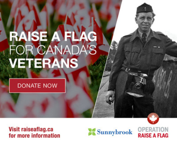 Operation Raise a Flag celebrates Canada's heroes and honours their sacrifice. (CNW Group/Sunnybrook Health Sciences Centre)