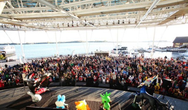 The Toronto Harbourfront Centre was a sea of X and Y on Friday, October 11 during Canada's Largest Pokémon Gathering, hosted by Nintendo of Canada. Over 2,000 people were on hand to celebrate the global launch of Pokémon X and Pokémon Y, the latest games in the popular Pokémon franchise. (CNW Group/Cohn & Wolfe) (CNW Group/Nintendo of Canada Ltd.)