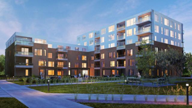 Les Industries Bonneville présentent la Phase 1 du Loggia St-Lambert, le premier bâtiment six étages modulaire en structure de bois à être construit au Canada. (Groupe CNW/Les Industries Bonneville)