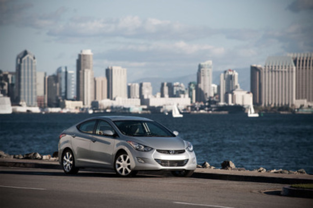 The 2012 Hyundai Elantra has been named North American Car of the Year (CNW Group/Hyundai Auto Canada Corp.)