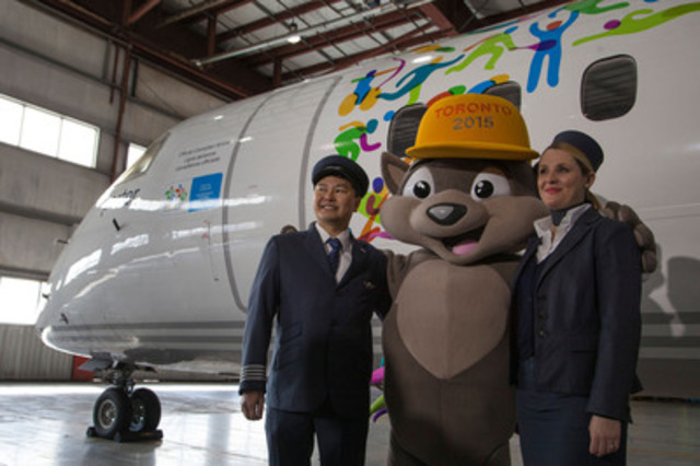 TO2015 et Porter Airlines dévoilent un avion aux couleurs des Jeux (Groupe CNW/Jeux pan/parapanaméricains de Toronto 2015)