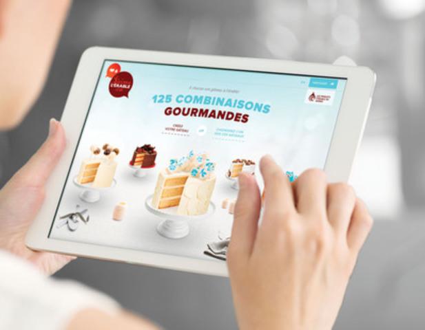 La plateforme interactive jaimelerable.ca/gateauxalerable permet aux internautes gourmands de créer leur gâteau à l'érable. (Groupe CNW/Fédération des producteurs acéricoles du Québec)