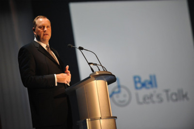 BCE President and CEO, George Cope, announced last night $1.5 Million raised at the annual Bell Event in support of CAMH (CNW Group/BELL CANADA)