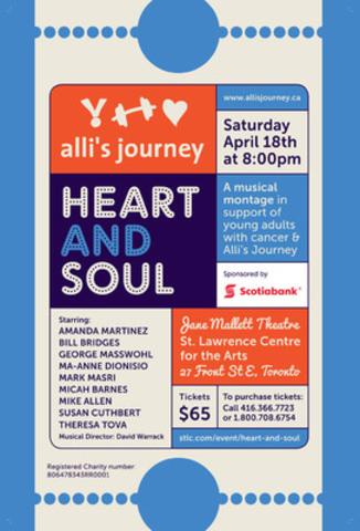 Heart & Soul Concert Poster (CNW Group/Alli's Journey)
