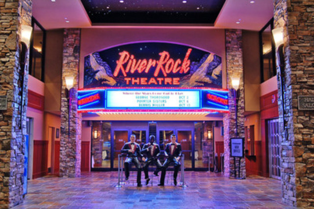 To see the list of upcoming events and shows at the River Rock Show Theatre, please visit www.riverrock.com. (CNW Group/River Rock Casino Resort)