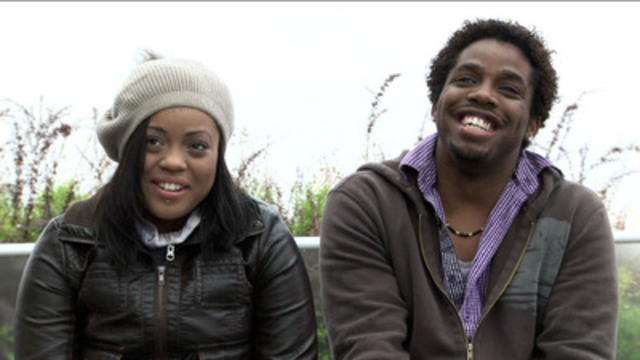 Fraternal twins Denise and Michael (l-r) share a laugh together. (CNW Group/TVO)