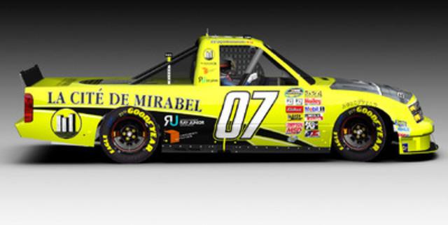 Ray Junior, ainsi que son équipe et l'homme d'affaires Daniel Proulx de La Cité de Mirabel / Blackshape Aircraft annoncent aujourd'hui que le pilote de Montréal sera à bord d'une camionnette de la série NASCAR Camping World Truck Series. (Groupe CNW/La Cité de Mirabel inc)