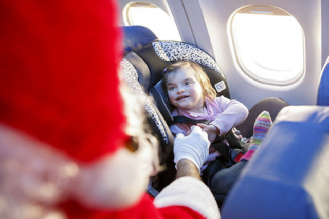 Air Transat and The Children's Wish Foundation invite hundreds of sick children on a special flight to the North Pole (CNW Group/Air Transat)
