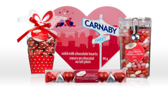 Canada's newest private label brand sweetens store shelves across the country just in time for Valentine's Day gifting. Carnaby Sweet, from Shoppers Drug Mart, offers a delicious range of classic favourite treats like jelly beans, chocolates and jujubes for indulging someone special. (CNW Group/Shoppers Drug Mart Corporation)
