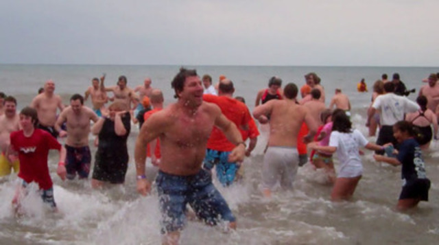 Video: Now in its 28th year, the Courage Polar Bear Dip is a New Year's tradition for many Canadians looking to have fun and help others. On January 1, 2012, more than 700 people took part.