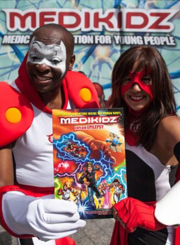 MediKidz characters showcase the MediKidz Explain Epilepsy comic book (CNW Group/Canadian Epilepsy Alliance)