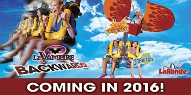 New at La Ronde in 2016 (CNW Group/La Ronde)