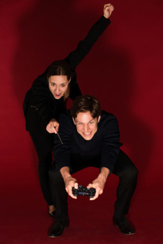 Maxime Goulet and Dina Gilbert. Credit : Nadia Zheng (CNW Group/Société des célébrations du 375e anniversaire de Montréal)
