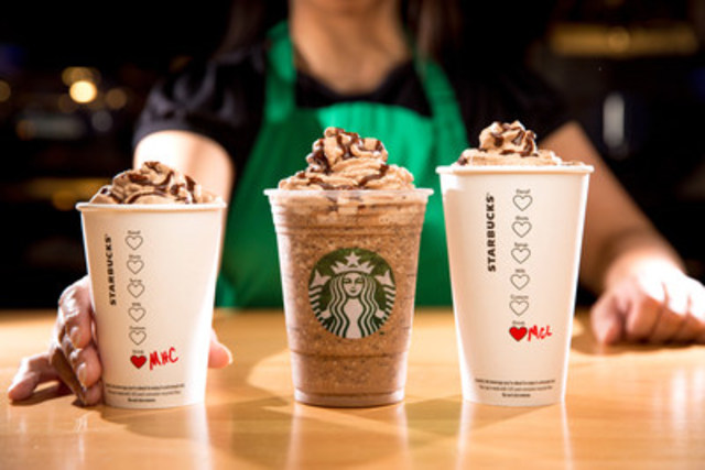 Celebrate Valentine's Day with Starbucks Molten Chocolate Trio (CNW Group/Starbucks Coffee Canada)