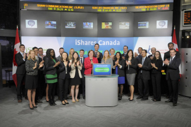 Karrie Van Belle, Managing Director, Blackrock Asset Management Canada joined Ungad Chadda, Senior Vice President, Toronto Stock Exchange, to open the market to launch five new funds: iShares FactorSelectTM MSCI Canada Index ETF (XFC),  iShares FactorSelectTM MSCI USA Index ETF (XFS), iShares FactorSelectTM MSCI EAFE Index ETF (XFI), iShares FactorSelectTM MSCI USA Index ETF (CAD-Hedged) (XFA) and iShares FactorSelectTM MSCI EAFE Index ETF (CAD-Hedged) (XFF).  iShares Funds are managed by BlackRock Asset Management Canada Limited. BlackRock provides investment management, risk management and advisory services for institutional and retail clients worldwide. As of August 31, 2015, BlackRock had 98 ETFs listed on Toronto Stock Exchange, with a combined market cap of almost $53 billion. XFC, XFS & XFI commenced trading on Toronto Stock Exchange on September 28, 2015 and XFA & XFF commenced trading on Toronto Stock Exchange on October 2, 2015. For more information please visit www.blackrock.com. (CNW Group/TMX Group Limited)
