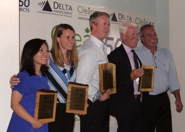 Left to Right: Candice Luck, buildABILITY Corporation; Jeanne Medland, KingSett Capital; Andrew Bowerbank, EllisDon Corporation; Philip Gillin, Sun Life Financial; Gavin Pitchford, Delta Management (CNW Group/buildABILITY Corporation)