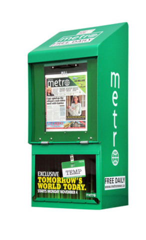 Temp: Tomorrow's World Today, starting November 4th. Only in Metro. (CNW Group/Metro Canada)