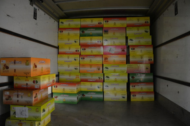 Seized contraband tobacco (CNW Group/Royal Canadian Mounted Police)