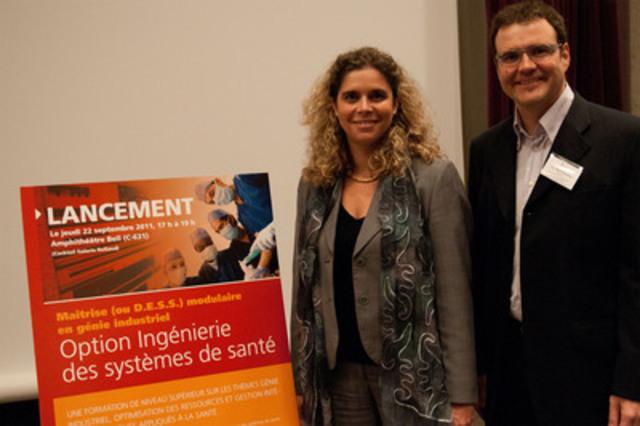Les professeurs Nathalie de Marcellis-Warin et Louis-Martin Rousseau, responsables de la nouvelle option (Groupe CNW/ECOLE POLYTECHNIQUE DE MONTREAL)