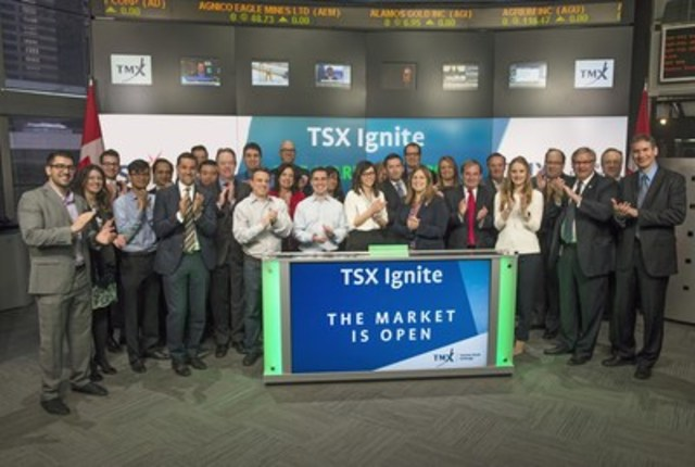 Partners for the 2016 TSX Ignite program joined Rob Peterman, Director, Global Business Development, Toronto Stock Exchange & TSX Venture Exchange to open the market. TSX Ignite is a program dedicated to the growth and development of small and medium-sized companies. Toronto Stock Exchange, TSX Venture Exchange and legal, accounting and banking experts from across the country, have brought together information on essential practices for any ambitious entrepreneur or manager of a growth-oriented company. For more information, please visit www.tsxignite.com. (CNW Group/TMX Group Limited)