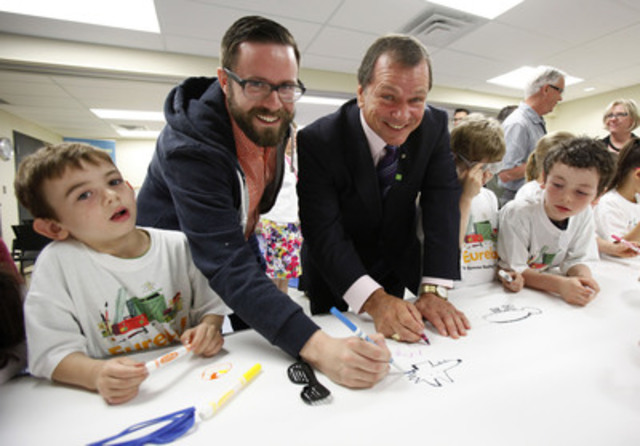 On June 3, 2014, students from Hopewell Avenue Public School joined Frank McKenna, Deputy Chair, TD Bank Group and illustrator John Martz at the Ottawa Public Library for the official launch of the 2014 TD Summer Reading Club. (CNW Group/TD Bank Group)