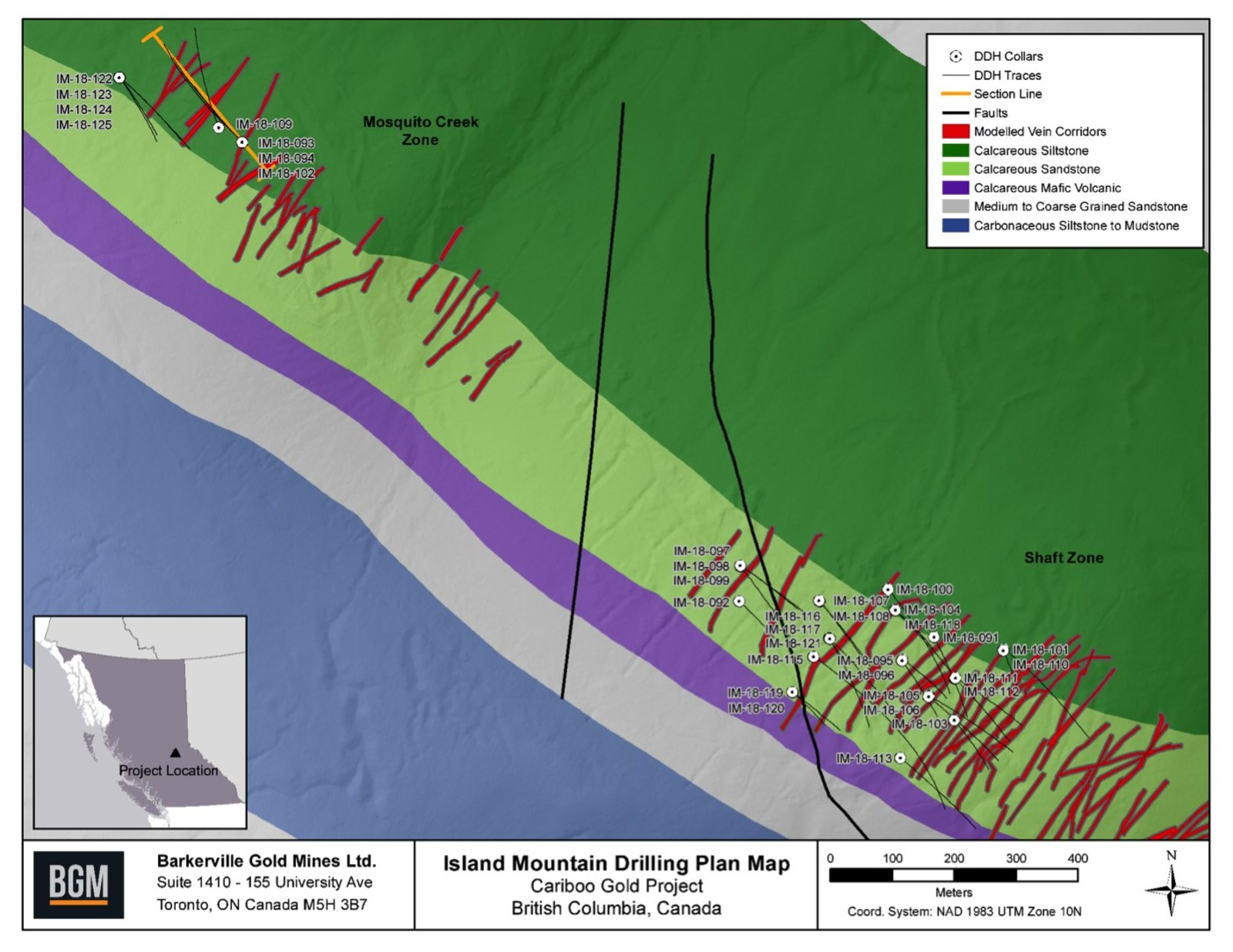 Island Mountain Drilling Plan Map