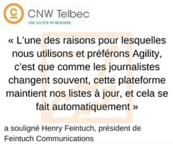 Henry Feintuch, président de Feintuch Communications (Groupe CNW/Groupe CNW Ltée)