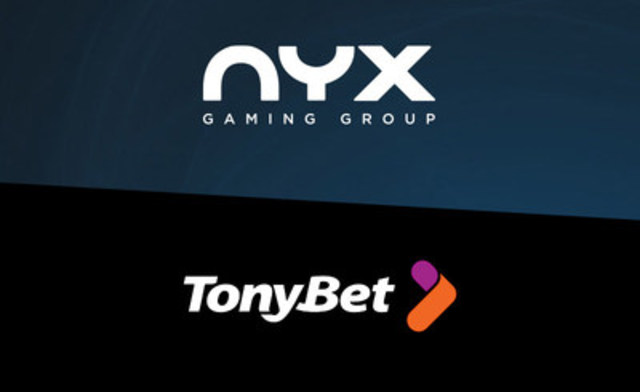 NYX is the first major casino provider certified and approved for the regulated Lithuanian market in partnership with TonyBet (CNW Group/NYX Gaming Group Limited)