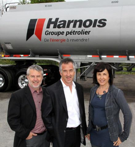 M. Luc Harnois, M. Serge Harnois et Mme Claudine Harnois (Groupe CNW/Harnois Groupe pétrolier)