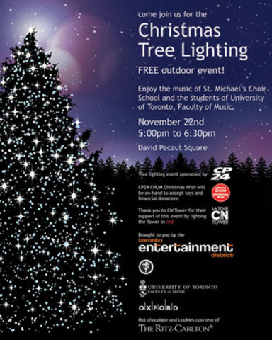 2013 Christmas Tree Lighting Ceremony (CNW Group/Toronto Entertainment District Business Improvement Area)