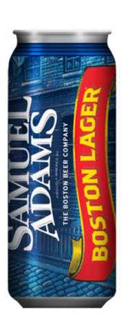 Samuel Adams Boston Lager is now available in a newly designed 473ml can, exclusively at the LCBO. The new can design aims to provide a drinking experience that is closer to the taste and comfort of drinking beer from a glass. (CNW Group/Moosehead Breweries Limited)