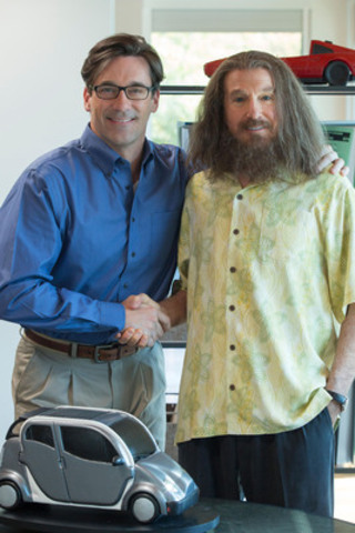 Jon Hamm as Will Haney and Larry David as Nathan Flomm/Rolly DaVore in CLEAR HISTORY (CNW Group/THE MOVIE NETWORK)