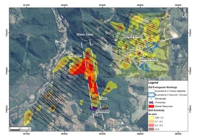 Figure 3 – Location map, Pilar Gold Mine (CNW Group/Jaguar Mining Inc.)