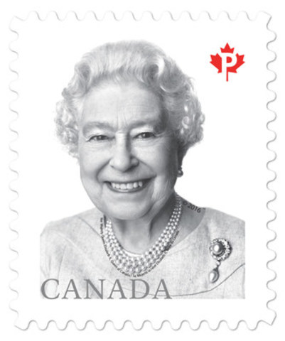 Canada Post today issued a new stamp featuring a celebrated recent portrait of Queen Elizabeth II. (CNW Group/Canada Post)