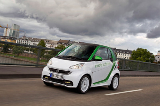 smart fortwo electric drive (CNW Group/Mercedes-Benz Canada Inc.)