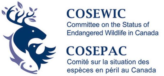 Logo COSEWIC (Groupe CNW/Comité sur la situation des espèces en péril au Canada)