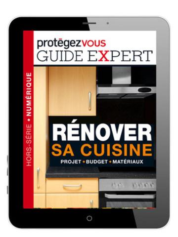 « Le tout nouveau guide expert Rénover sa cuisine, publié par Protégez-Vous et vendu exclusivement dans son application iPad (7,99 $), vise à accompagner les consommateurs, étape par étape, dans leur projet de rénovation. » (Groupe CNW/Protégez-Vous)