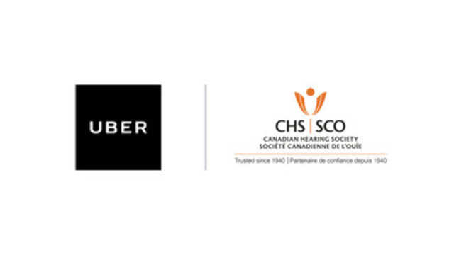 Logo : UBER and Canadian Hearing Society (CNW Group/Uber Canada Inc. (Québec))