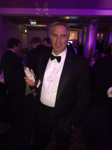Joel Leonoff, President and CEO of Optimal Payments wins CEO of the year at the UK Stock Market Awards 2014 (CNW Group/Optimal Payments Plc.)