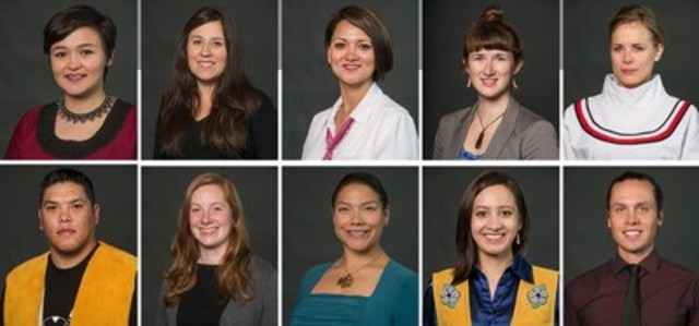 The Jane Glassco Northern Fellows: Angela Nuliayok Rudolph; Catherine Blondin; Clara Wingnek; Dawn Tremblay; Jessica Black; Jordan Peterson; Meagan Grabowski; Melaina Sheldon; Samantha Dawson; Thomsen D'Hont (CNW Group/Walter & Duncan Gordon Foundation)