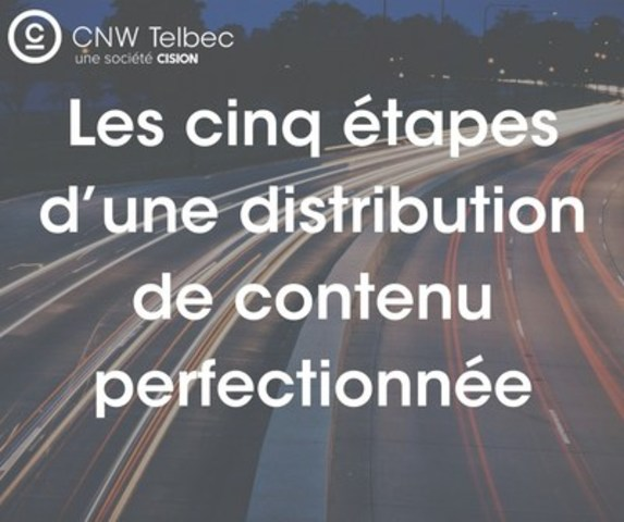 Les cinq étapes d'une distribution de contenu perfectionnée (Groupe CNW/Groupe CNW Ltée)
