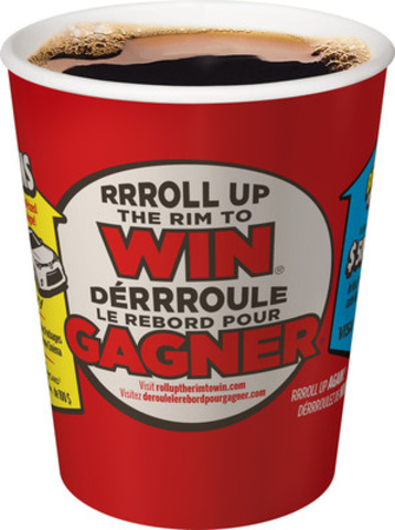Tim Hortons RRRoll Up the Rim to Win is back and with more than 48 million prizes - that's more prizes than the entire population of Canada - everyone can be a winner! (CNW Group/Tim Hortons)